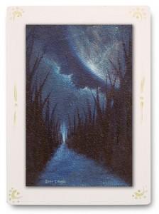 群青からの風 part.4 / 2011 / Oil Color  / 150mm × 100mm / Wood Panel / Sold